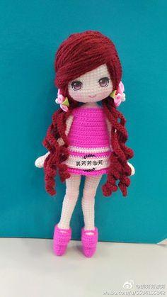 Margarita Ganol | VK Crochet Doll Dress, Crochet Doll Pattern, Crochet Patterns Amigurumi, Amigurumi Doll, Easy Crochet Patterns, Yarn Dolls, Knitted Dolls, Doll Tutorial, Cute Crochet