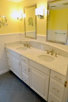 Custom Bathroom Vanities Ri gorgeous master bathroom featuring a frameless porcelain tiled