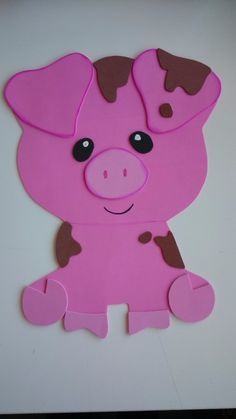 Imagen relacionada School Decorations, Birthday Party Decorations, Birthday Parties, Pig Birthday, Pig Party, Yoko, Animal Party, Farm Animals, Ideas Para
