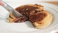 The One Way You Should Be Making Pancakes - Nutella Stuffed Pancakes!!! YES!!! XD <3 <3 <3