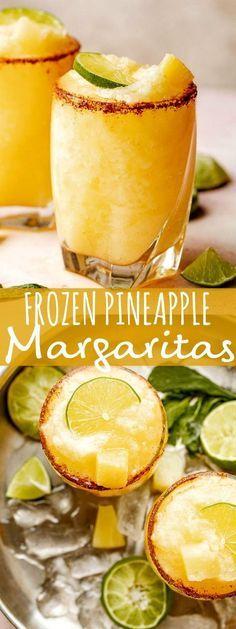 Refreshing Drinks, Summer Drinks, Fun Drinks, Pineapple Margarita, Frozen Pineapple, Pineapple Juice, Lime Juice, Margarita Alcohol, Vodka Tequila