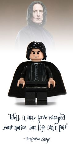 Professor Snape Lego Minifigure - Harry Potter Collectibles