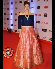 """Raveena Tandon wearing a Manish Malhotra outfit for Britannia Filmfare awards .@BOLLYWOODSTYLEFILE  . Outfit ~ @manishmalhotra05 . #bollywoodstylefile…"""