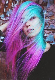 Blue/purple hair