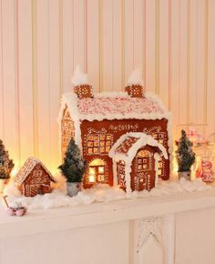 adorable gingerbread villiage-I wonder if I can paint my houses to look like gingerbread