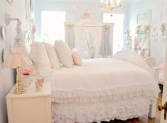 Romantic Bedroom in White (by Eye Candy Creations ~ Jenn Hayslip)