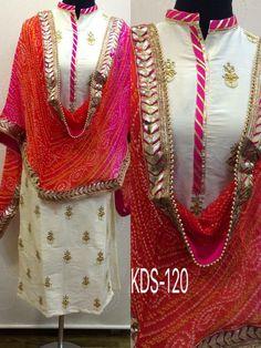 Indian Women Fashion: Kurtis Style in Indian Fashion Industry 2016 Kurti Neck Designs, Dress Neck Designs, Kurta Designs Women, Kurti Designs Party Wear, Dress Indian Style, Indian Wear, Indian Attire, Bandhani Dress, Salwar Dress