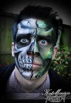 Face paint body art airbrush monster skull