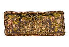 Floral Piano Bench Needlepoint Pillow