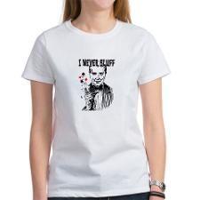I never Bluff - poker - black red white T-Shirt