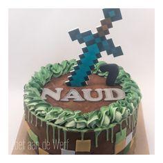 Minecraft Cake, Birthday Cake, Desserts, Food, Birthday Cakes, Meal, Deserts, Essen, Hoods