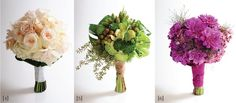 {5} Not every bride is looking for roses. At Marius Bell, designer Bobby Simonsen uses fruits, vegetables and succulents to compose a lush arrangement of nature's bounty. Incorporating a spectrum of green elements—from eucalyptus to limes, kale to millet grass—this bouquet creates a natural landscape that's both classy and contemporary.