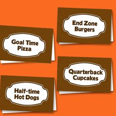 Football Party Printables {Superbowl Inspiration} — Celebrations at Home