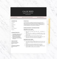 Resume Template  The Garner Resume Design Instant Download