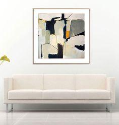 Grey white abstract large grey abstract by SarinaDiakosArt on Etsy