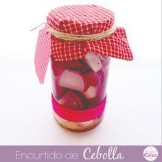 Receta Encurtido de Cebolla y decoración de bote de #vidrio #reciclaje #botellas #decorar #frascos #diy