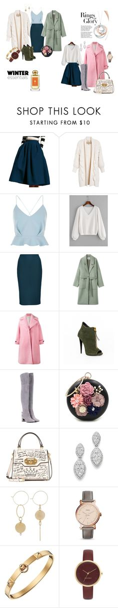 """""""all for winter"""" by olgaanapolskaya on Polyvore featuring мода, Burberry, River Island, Olympia Le-Tan, Tory Burch, WithChic, Dolce&Gabbana, Bloomingdale's, FOSSIL и Hermès"""