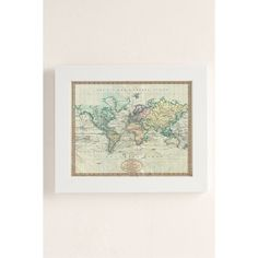 Adam Shaw Vintage World Map (1801) Art Print (215 ILS) ❤ liked on Polyvore featuring home, home decor, wall art, map home decor, vintage home accessories, vintage wall art, vintage home decor and vintage map wall art