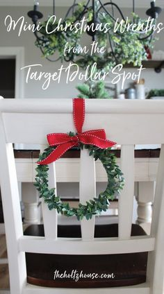 DIY Mini Christmas Wreaths