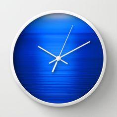Deep Blue Wall Clock, Blue Clock, Sunset Photography, Nature Photography, Landscape Photography, Oce