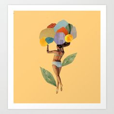 i walk out in the flowers and feel better Art Print by Cardboardcities - $18.00