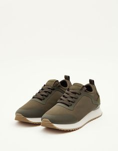 Pull&Bear - для женщин - обувь - кроссовки и кеды - кроссовки для улицы - хаки - 15645211-I2017