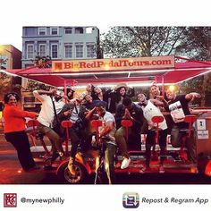Repost from @mynewphilly - We had a ball! Thanks @bigredpedal #CityBuzz Segment coming soon!  #bigredpedaltours #philly #phl #whyilovephilly #phillyfun #oldcity #oldcityphilly #funinphilly #visitphilly #pedicycle #pubcrawl #pedalpub #whattodo #mynewphilly #tripadvisor