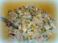 Fotorecept: Ryžový šalát - Toto jedlo som jedávala v Taliansku pri mori..ľahunký obed, ale aj večera.
