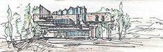 Sketch  of  public  library  by  luigi  rabellino