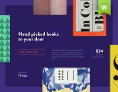 In October 2014 I designed website for a wonderful service - sending book every month. You simply answer a few questions like gender, age, interests, hobbies, actual mood, etc. And they will find the right book for you every month. They are not a big team…
