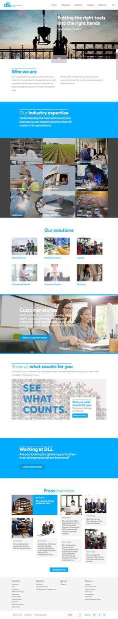 De Lage Landen, een volle dochteronderneming van de Rabobank Groep, is in meer dan 45 jaar uitgegroeid tot een wereldspeler op het gebied van asset gerelateerde financiële oplossingen. Op 30 september 2014 heeft het bedrijf haar merknaam vernieuwd naar DLL, een naamswijziging die de groei en het succes van de organisatie weerspiegelt en wordt ondersteund met een nieuw logo en de nieuwe slogan 'See what counts'.