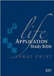 Life Application Study Bible KJV, Large Print by Tyndale. $37.79. Publisher: Tyndale House Publishers, Inc. (March 10, 2003). 2816 pages. Publication: March 10, 2003