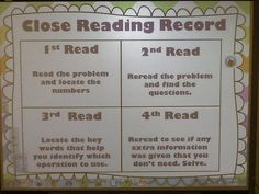 Close Reading for Math Word Problems- blog post