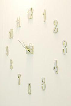 Frameless Clock #DIY #clock