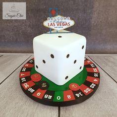 x Las Vegas Birthday Cake x by Sugar Chic Las Vegas Cake, Poker Cake, 40th Cake, Vegas Birthday, Vegas Theme, Casino Cakes, Casino Theme Parties, Dinner Recipes For Kids, Themed Cakes