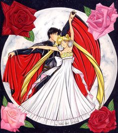 Sexy Tuxedo Mask | sailor moon and tuxedo mask flower moon