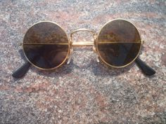 Sunglasses John Lennon Style Hippie Glasses 70s Retro Vintage Brown 9a Round New