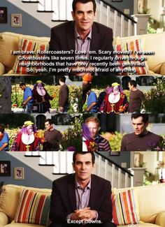 Phil Dunphy loves clowns