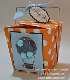 Noodle boxes with smarties - party favor idea
