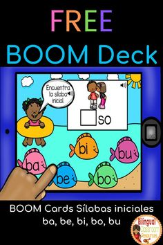 Grab this free self-checking and fully-digital resource! This BOOM Deck is great for identifying the beginning syllable sounds with the letter b-Sílabas iniciales ba, be, bi, bo, bu.  Kids LOVE Boom Cards!   This deck is PERFECT for non-readers and early readers since it includes SOUND. #spanishboomcardsfree#boomcardsinspanish#duallaguage #boomlearning#juegodigitalsilabas#distancelearning#silabababebibobu#actividadesconlasilabababebibobu#boomcardskindergartenfree#freeboomcardsforkindergarten Spanish Language Learning, Teaching Spanish, Spanish Lessons, Letter Recognition, Letter Tracing, Elementary Spanish, Elementary Teacher, Creative Teaching, Teaching Ideas