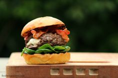 Burrata Stuffed Grilled Burgers With Smoked Bacon