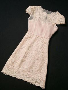 Apricot Short Sleeve lace dress