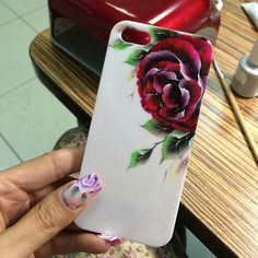 ☺ Diy And Crafts, Arts And Crafts, One Stroke Nails, One Stroke Painting, Iphone Cases, Lily, Nail Art, Manicures, Floral