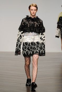 Lace and fur menswear by   Elena Crehan