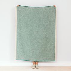 Seagreen Recycled Wool Blanket | Blankets and throw for the sofa