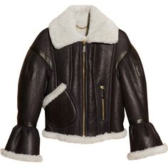 Burberry leather jacket Shearling