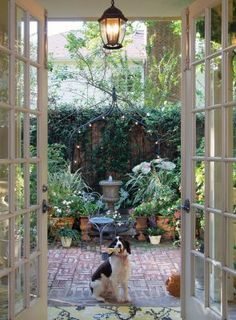 French Patio on Pinterest | Sliding Patio Doors, Exterior French ...
