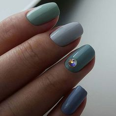 Different Shades of Blue for Elegant Nail Designs for Short Nails #beautynails