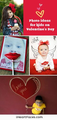 Creative Valentines Day Photo Ideas for Kids. iHeartFaces.com