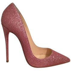Pre-owned Christian Louboutin So Kate Glitter Eu 37 Us 6.5 Pink Pumps ($700) ❤ liked on Polyvore featuring shoes, pumps, pink, christian louboutin shoes, christian louboutin, pink glitter pumps, pre owned shoes and high heel pumps